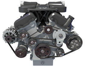 V12 Engine with Internal Parts 3D horsepower