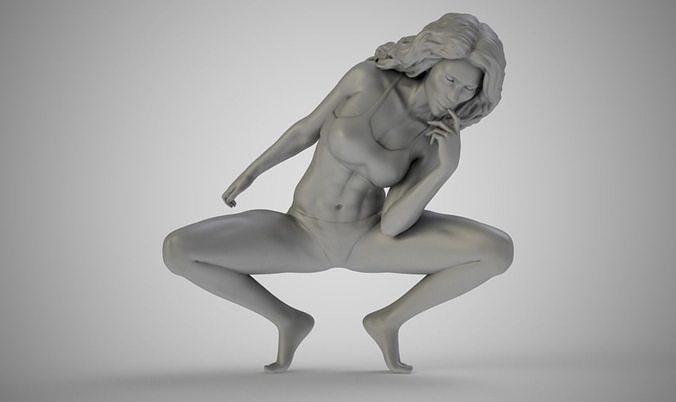 artistic stance 3d model obj mtl stl 3mf 1