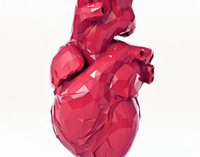 Heart Low Poly Print 3D printable model