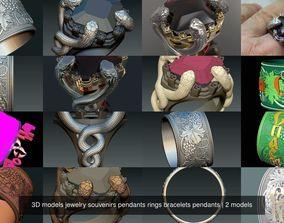 3D models jewelry souvenirs pendants rings bracelets 1
