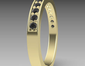 pave Eternity ring 3D printable model