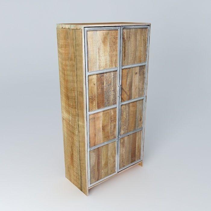 3D model Armoire Taiga Maisons du Monde | CGTrader
