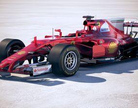 3D F1 Ferrari 2017 SF70H
