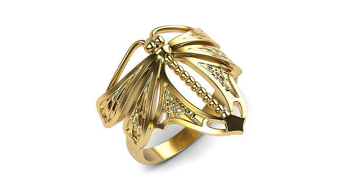 dragonfly ring 3d model stl 1