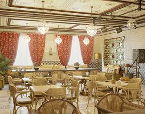 Interior Restaurant 01 3D