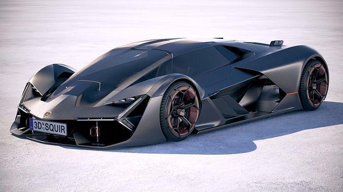 Lamborghini Terzo Millennio 2018 3d Model Cgtrader