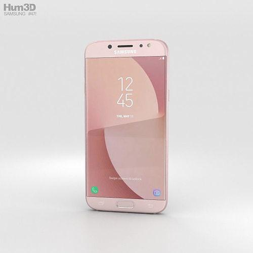 samsung galaxy j7 2017 pink 3d model max obj mtl 3ds fbx c4d lwo lw lws 1
