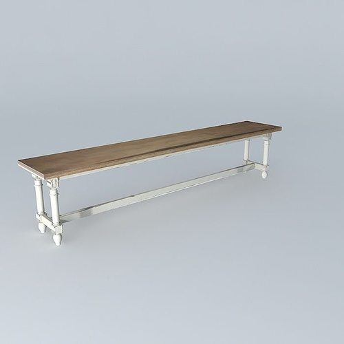 Bench ST REMY Houses The World 3D