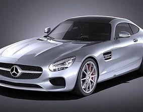 Mercedes-Benz AMG GT 2016 VRAY 3D model