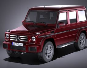 3D model Mercedes-Benz G-Class 2017 VRAY