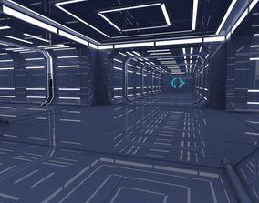 Sci fi Corridor 3D asset