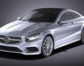 Mercedes-Benz S-Class Coupe 2017 VRAY 3D model