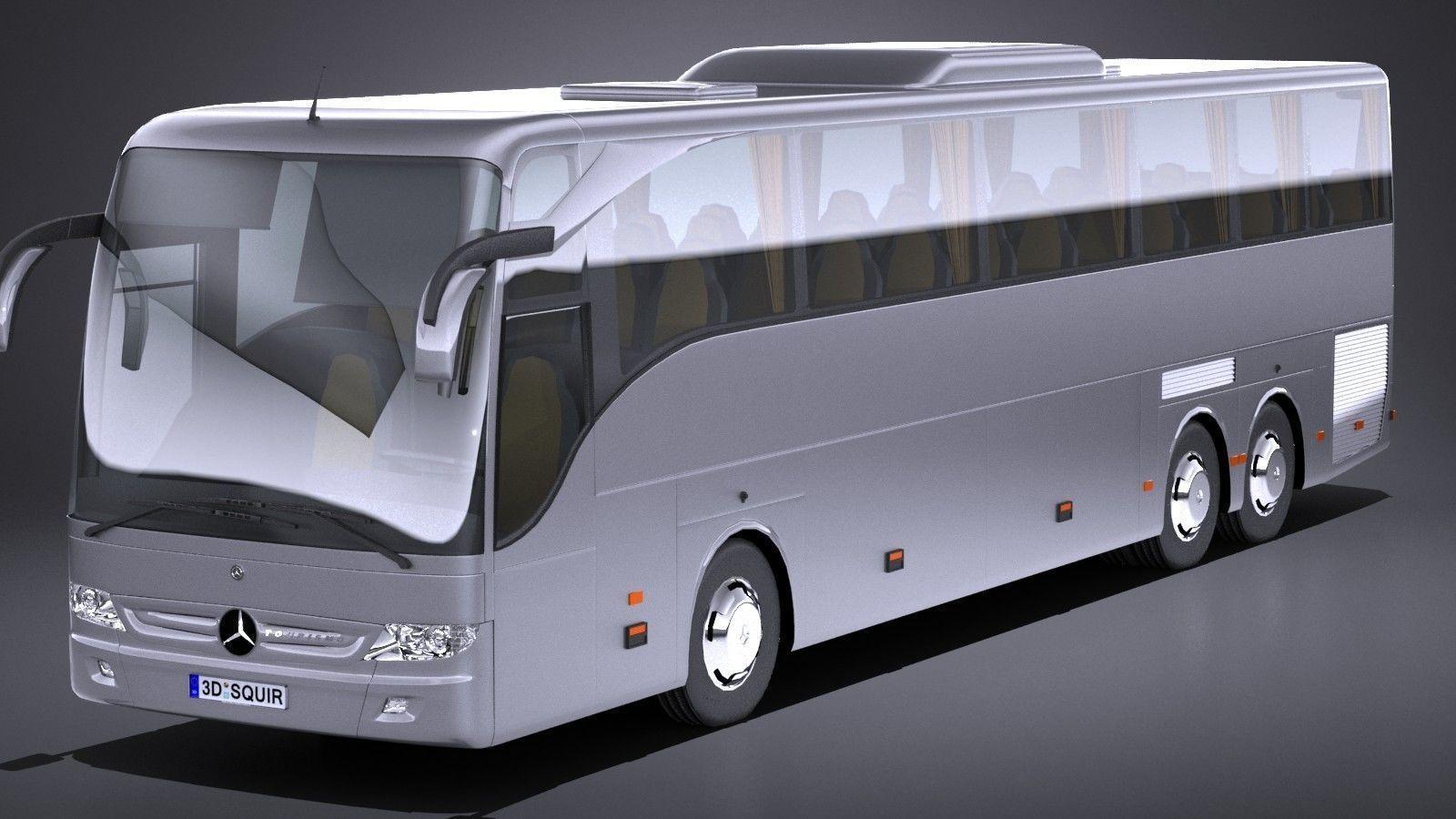 LowPoly Mercedes Tourismo 2013