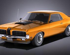 Mercury Coguar 1970 VRAY 3D