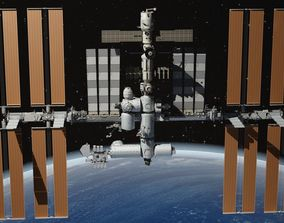 3D NASA International Space Station