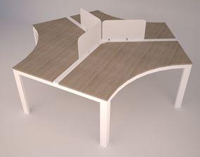 Modern Office Furniture N10 3D asset