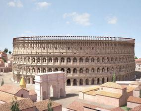 3D Roman Colosseum High detailed