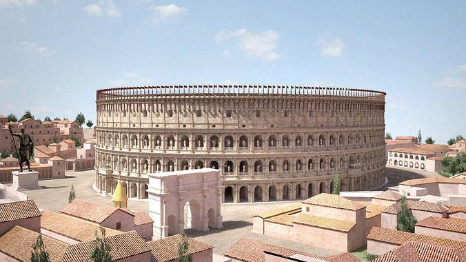 roman colosseum high detailed 3d model max obj mtl 3ds fbx c4d lwo lw lws 1