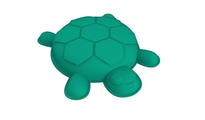 turtle shaped mold 3d model stl 1
