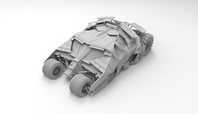 batmobile 3d model stl 1