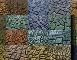 3d model hand-painted textures pack