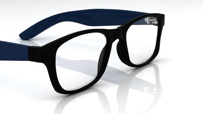 eyeglass for men 3d model obj mtl ma mb stl 3dm 1