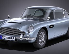 3D model LowPoly Aston Martin DB5 1963