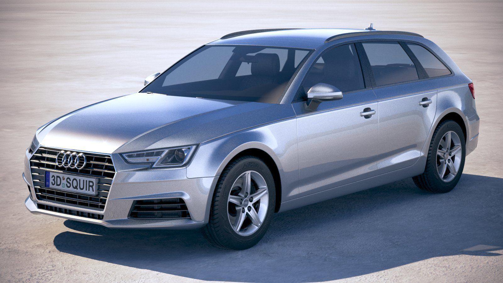 Audi A4 Avant 2019 3d Model