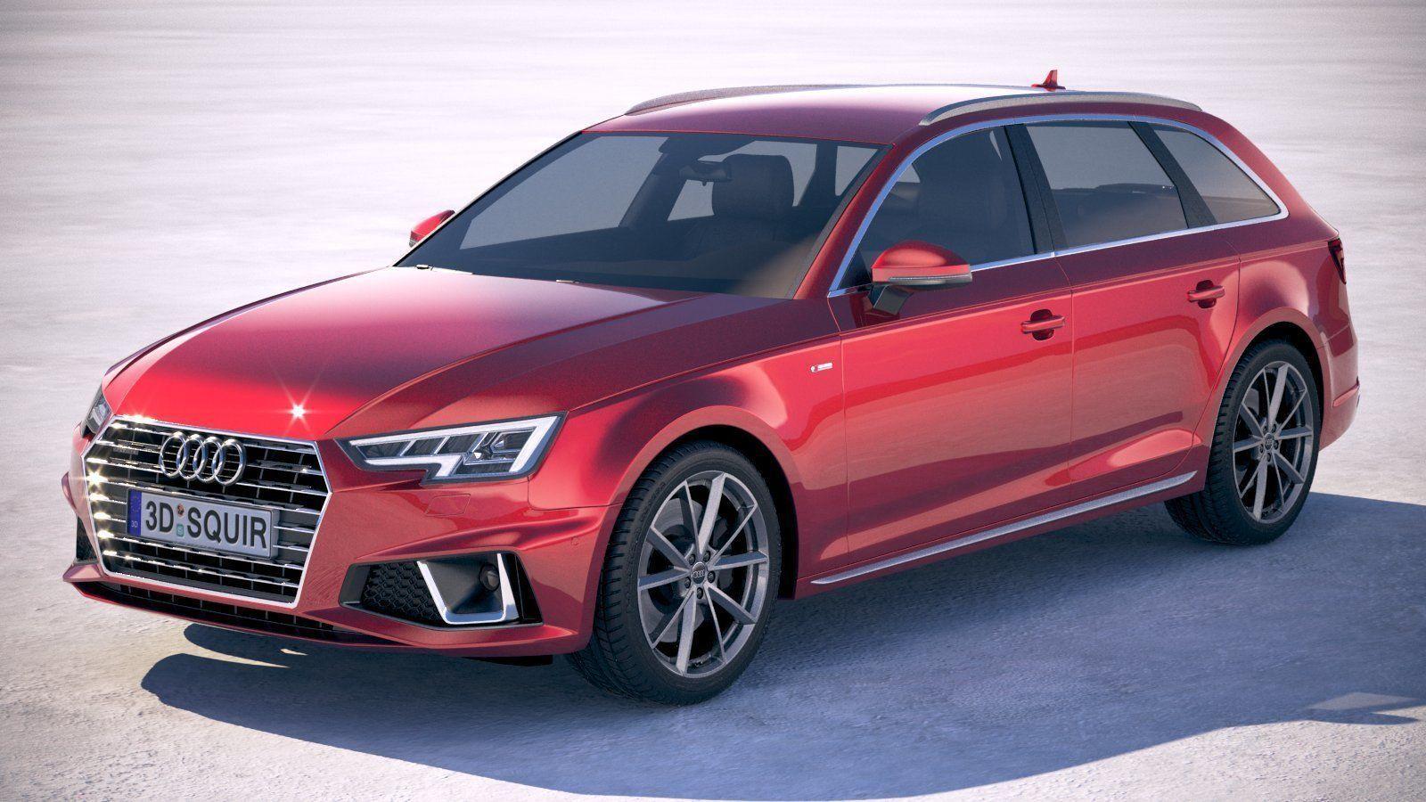 Audi A4 S Line Avant 2019 3d Model