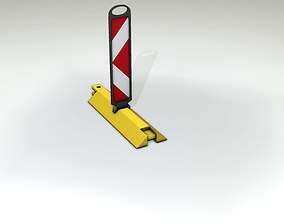 Yellow guide barrier 19 pointing left 628-11 3D asset