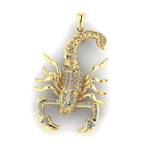 zodiac signs scorpion 3d model obj mtl stl 3dm 1