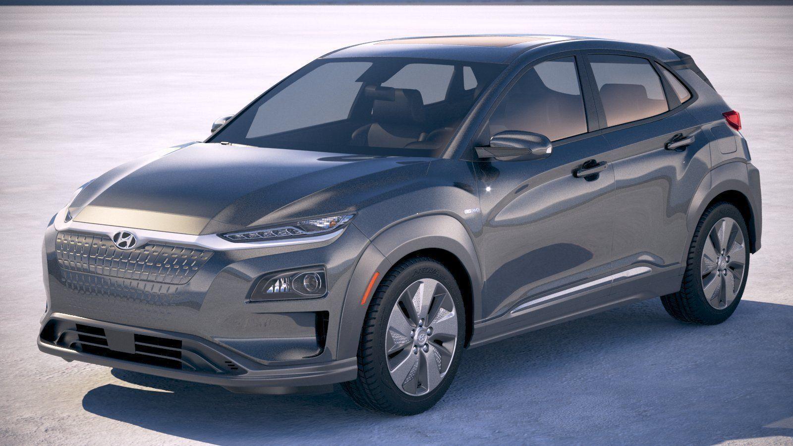 Hyundai Kona Electric 2019 3d Cgtrader