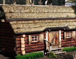 3D asset country cottage2