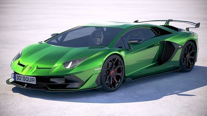 3d Lamborghini Aventador Svj 2019 Cgtrader