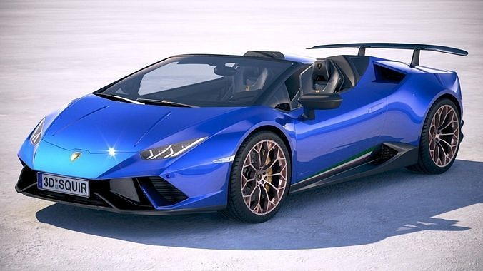 Lamborghini Huracan Spyder Performante 2019 3d Model