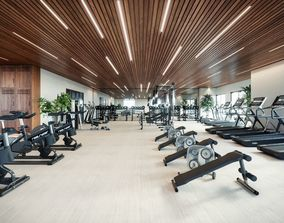 3D asset Gym Room Interior