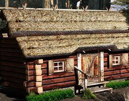 3D model country cottage obj