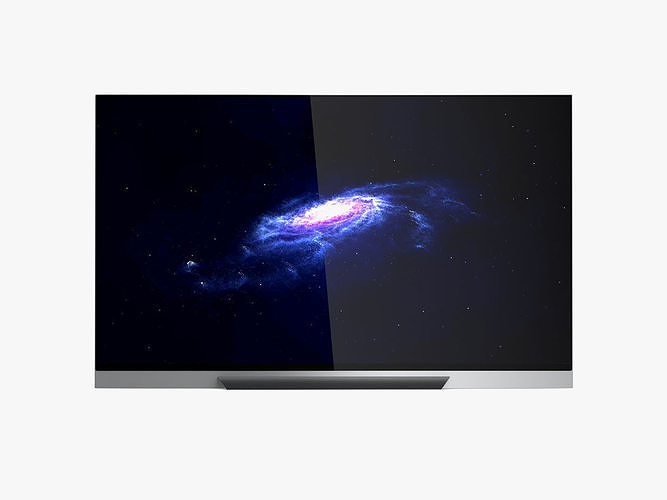 oled65e8pua 65-inch 4k ultra hd smart oled tv 3d model max obj mtl 3ds fbx c4d ma mb 1