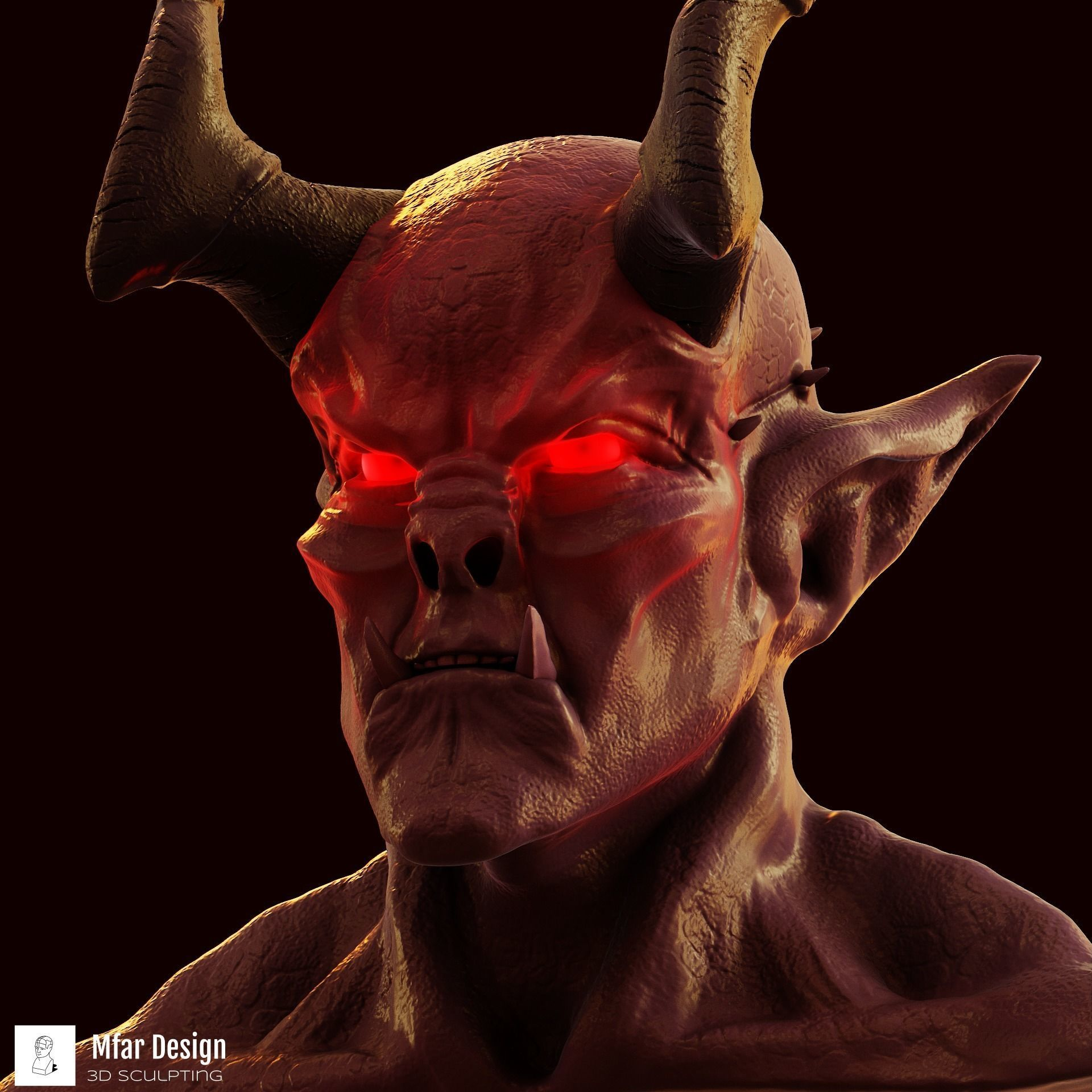 Devil 3d model print