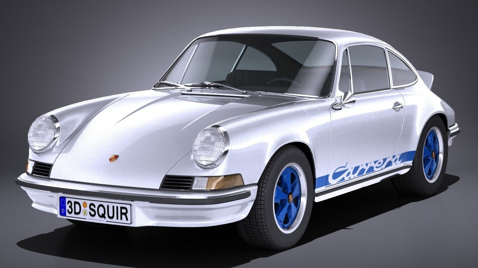 Real Time 911 >> 3d Model Lowpoly Porsche 911 Carrera Rs 1973 Cgtrader