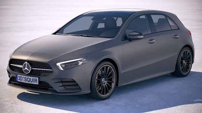 mercedes a-class amg 2019 3d model max obj mtl 3ds fbx c4d lwo lw lws 1
