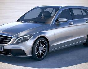 3D model Mercedes C-class Estate 2019