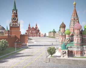 Moscow Red Square Russia 3D model