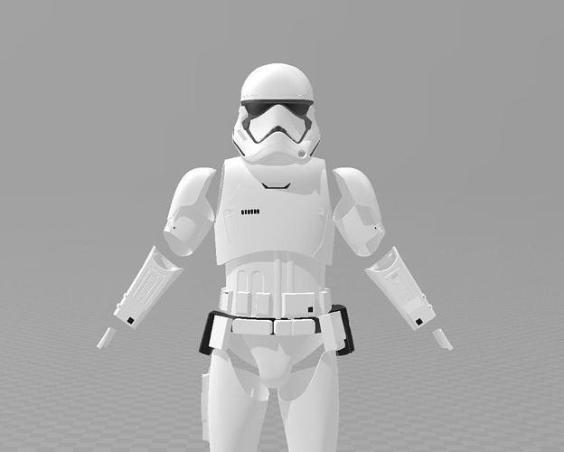 star wars tlj storm trooper full armour ep8 3d model stl 1