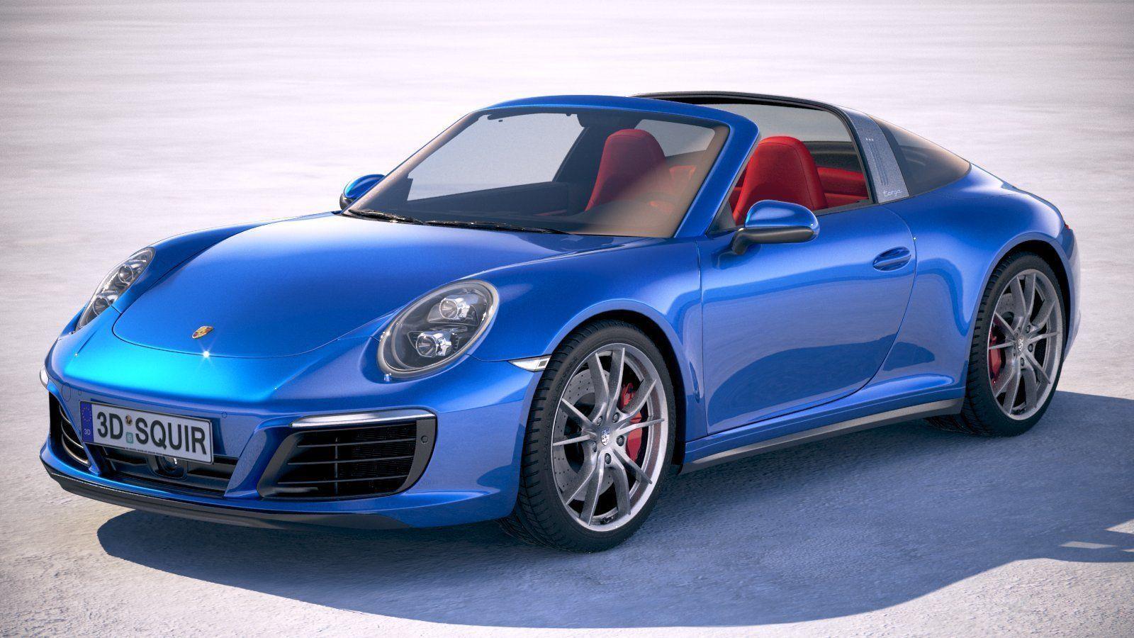 3d Model Porsche 911 Targa 4s 2018 Cgtrader