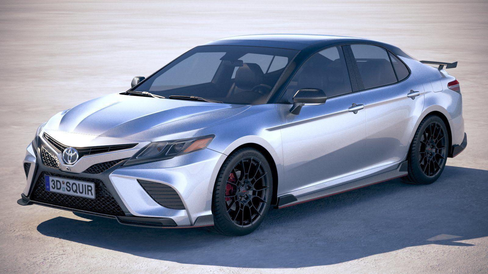 3d Toyota Camry Trd 2020 V6 Cgtrader