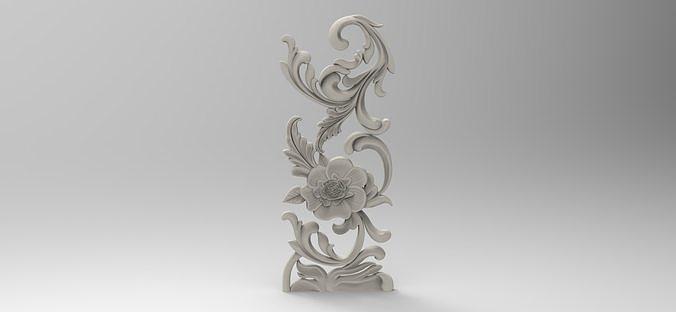 floral 3 3d model stl 1