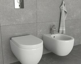 3D model Toilet and bidet Villeroy