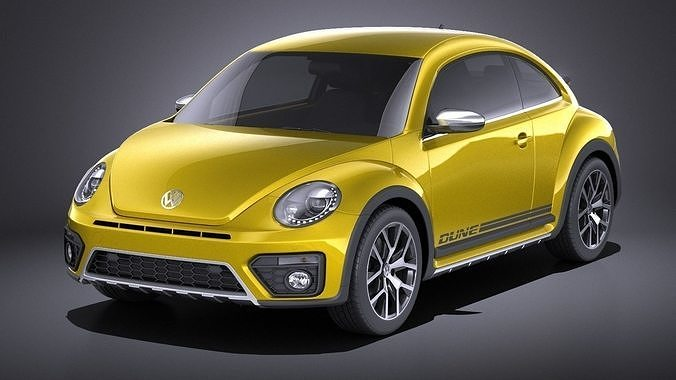 volkswagen beetle dune 2018 vray 3d model max obj mtl 3ds fbx c4d lwo lw lws 1