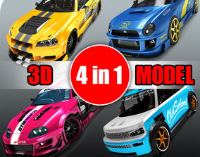 3D Collection of exclusive Japanese cars